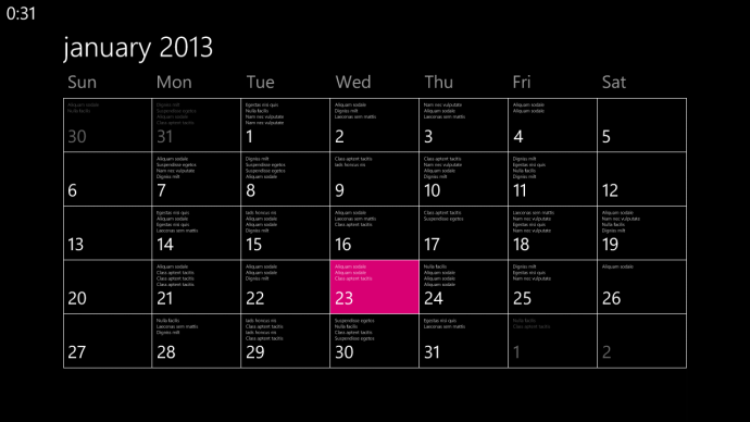 The calendar view looks really sleek!
